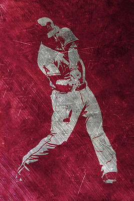 Baseball Stadium Painting - Mike Trout Los Angeles Angels Art by Joe Hamilton