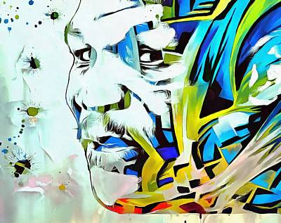 Boxer Mixed Media - Mike Tyson Abstract by Dan Sproul