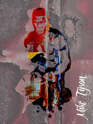 Boxer Mixed Media - Mike Tyson Collection by Marvin Blaine