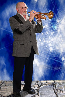 Trumpet Photograph - Mike Vax Professional Trumpet Player Photographic Print 3774.02 by M K  Miller