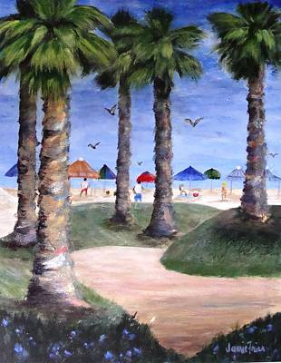 Frier Painting - Mike's Hermosa Beach by Jamie Frier