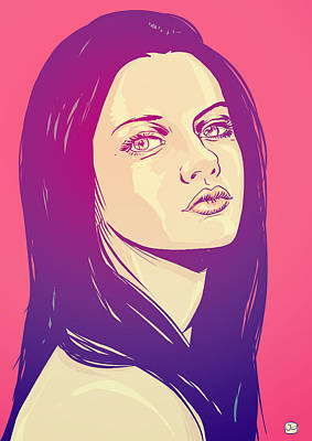 Pop Drawing - Mila Kunis by Giuseppe Cristiano
