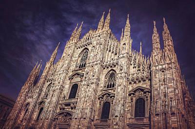Old Milano Photograph - Milan Duomo by Carol Japp