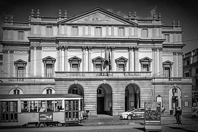 Old Milano Photograph - Milan Monochrome Teatro Alla Scala by Melanie Viola