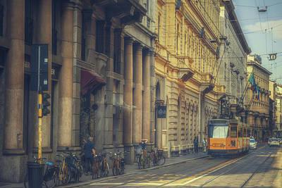 Milan Public Transport Print by Chris Fletcher