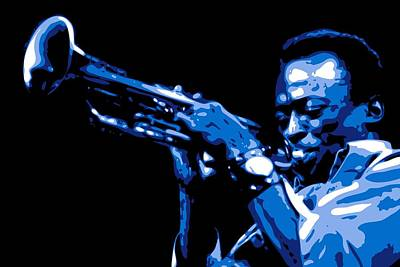 Horns Digital Art - Miles Davis by DB Artist