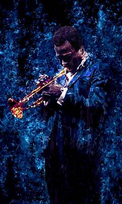 Trumpet Mixed Media - Miles Davis Signed Prints Available At Laartwork.com Coupon Code Kodak by Leon Jimenez