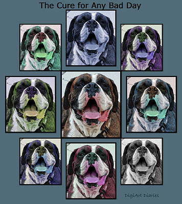 Boxer Dog Digital Art - Miles Of Smiles by DigiArt Diaries by Vicky B Fuller