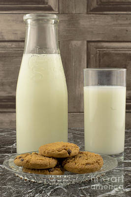Milk And Cookies Print by F Helm