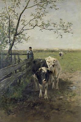 Rustic Painting - Milk Path by Anton Mauve