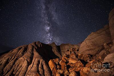Petrified Forest Arizona Photograph - Milky Way And Petrified Logs by Melany Sarafis