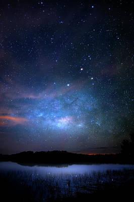 Beauty Mark Photograph - Milky Way At 9 Mile Pond by Mark Andrew Thomas
