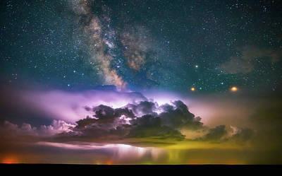 Milky Way Monsoon Print by Darren White
