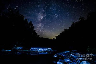 Milky Way Over Baptizing Hole Print by Thomas R Fletcher