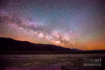 Milkyway Over Death Valley Print by Jim DeLillo