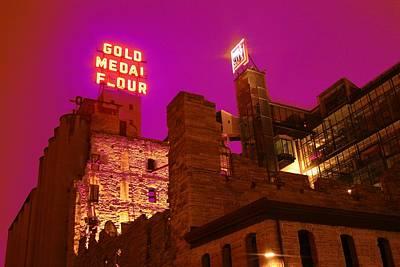 Minneapolis Skyline Photograph - Mill City At Night by Heidi Hermes