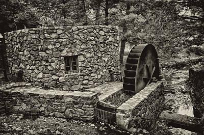 Mill Creek Water Wheel Print by Bill Cannon