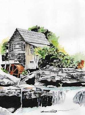 Mill Print by Richard Long