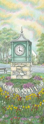Clock Drawing - Millennium Clock  Endmoor  Cumbria by Sandra Moore