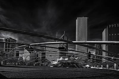 Millennium Park In Chicago Print by Andrew Soundarajan