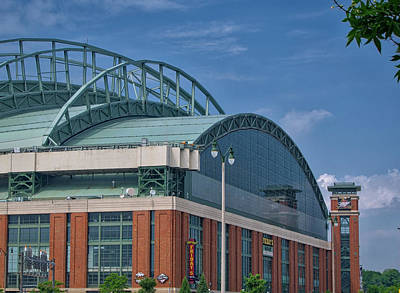 Miller Park - Home Of The Brewers - Milwaukee - Wisconsin Print by Steven Ralser
