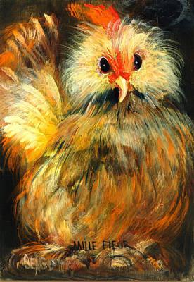 Barnyard Animal Painting - Millie by Sally Seago