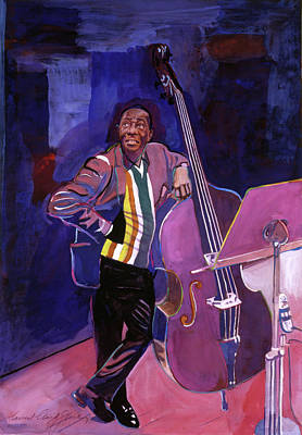 Milt Hinton Jazz Bass Print by David Lloyd Glover