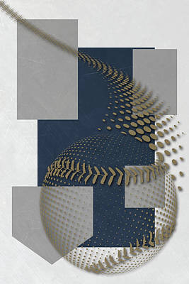 Baseball Uniform Painting - Milwaukee Brewers Art by Joe Hamilton