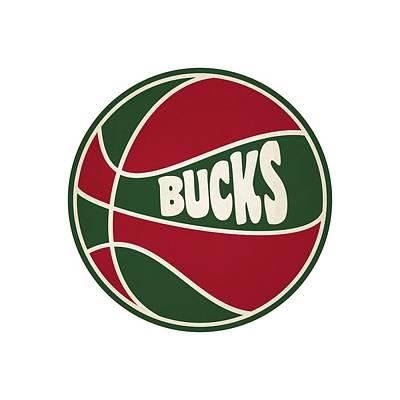 Milwaukee Bucks Retro Shirt Print by Joe Hamilton