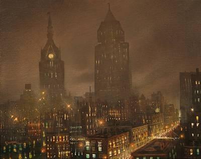 Milwaukee Fog Print by Tom Shropshire
