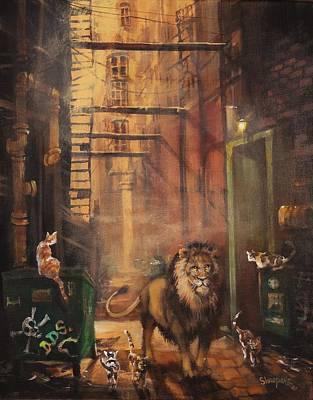 Milwaukee Lion Print by Tom Shropshire