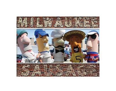 Hot Dog Digital Art - Milwaukee Sausages by Geoff Strehlow