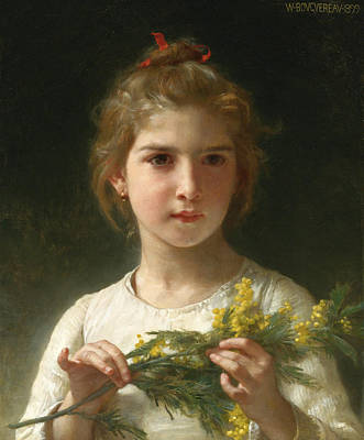 William-adolphe Bouguereau Painting - Mimosa by William-Adolphe Bouguereau