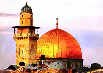 Minaret And Dome Print by Munir Alawi