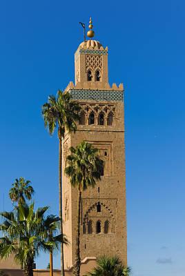 Minaret Of The Koutoubia Mosque, Marrakesh Print by Nico Tondini