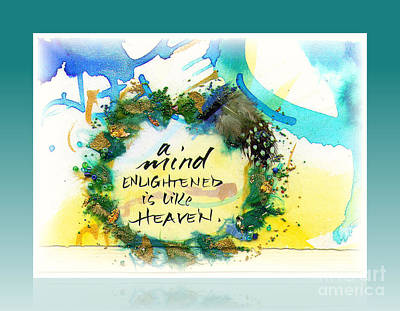 Mind Enlightened Print by L Jaye  Bell