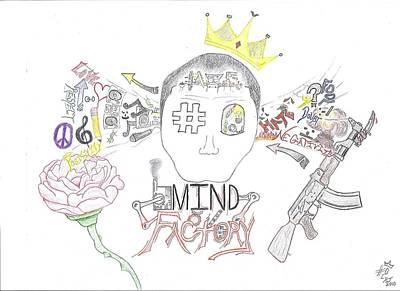 Drawing - Mind Factory by Devrryn Jenkins