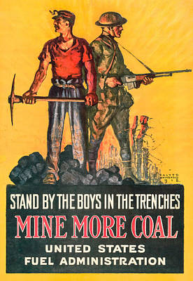 Mine More Coal Print by David Letts