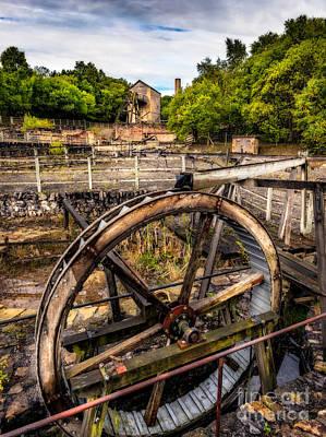 Mine Wheel Print by Adrian Evans