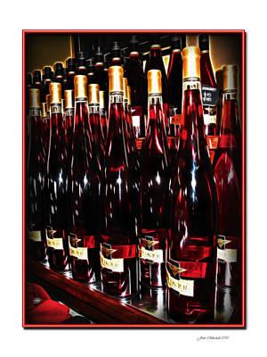 Miner Pink Sparkling Wine Print by Joan  Minchak