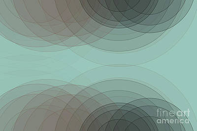 Digital Art - Mineral Semi Circle Background Horizontal by Frank Ramspott