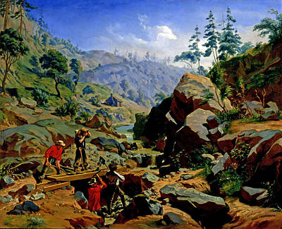 Painting - Miners In The Sierras by Charles Christian Nahl