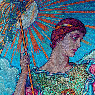 Elaborate Painting - Minerva Goddess Of Wisdom 2 by Tony Rubino