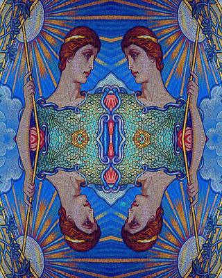 Elaborate Painting - Minerva Goddess Of Wisdom Surreal Pop Art 2 by Tony Rubino