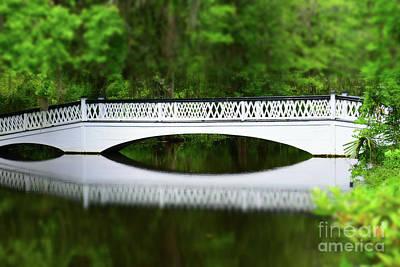 Miniature Effect Photograph - Miniature Long White Bridge by Patti Whitten