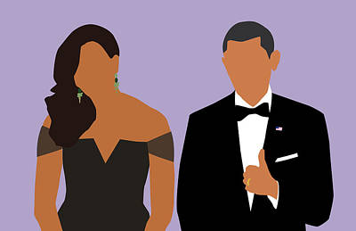 Michelle Obama Digital Art - Minimal Obamas by Karissa Tolliver