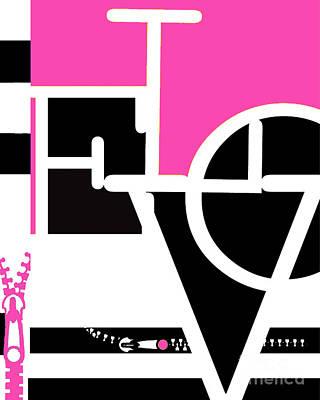 Anahi Decanio Mixed Media - Minimalist Love Word Fashion Print by WALL ART and HOME DECOR