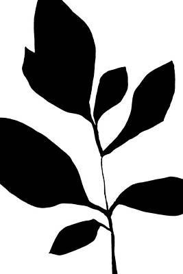 Pottery Barn Style Painting - Minimalist Plant Silhouette 3 by Janine Aykens