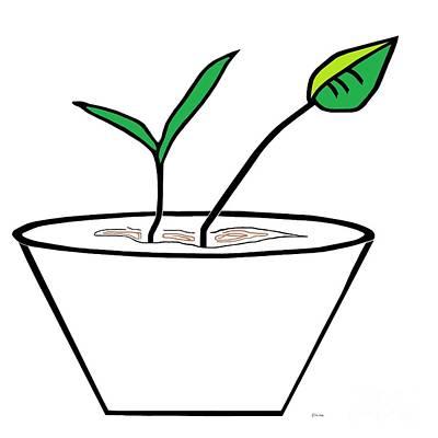 Minimalist Pot Plant Print by Eloise Schneider