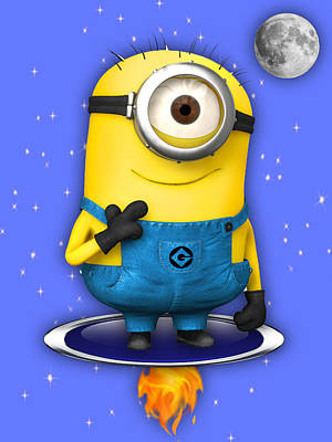 Poster Mixed Media - Minions Collection by Marvin Blaine